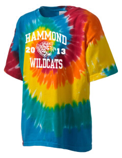 Hammond High School Wildcats Kid's Tie-Dye T-Shirt