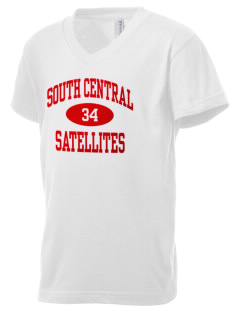South Central High School Satellites Kid's V-Neck Jersey T-Shirt