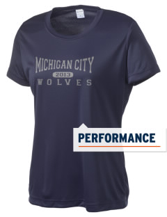 Michigan City Junior High School Wolves Women's Competitor Performance T-Shirt