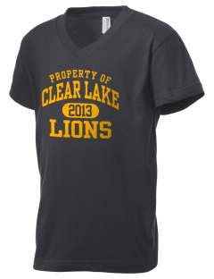 Clear Lake High School Lions Kid's V-Neck Jersey T-Shirt