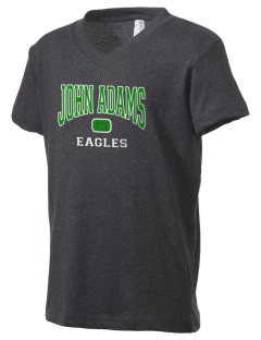 John Adams Middle School Eagles Kid's V-Neck Jersey T-Shirt