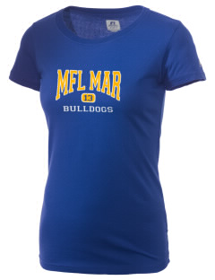 MFL Mar  High School Bulldogs  Russell Women's Campus T-Shirt