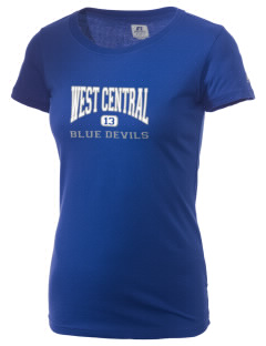West Central Community School Blue Devils  Russell Women's Campus T-Shirt
