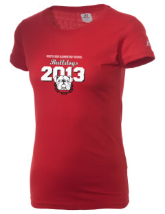 North Side Elementary School Bulldogs  Russell Women's Campus T-Shirt