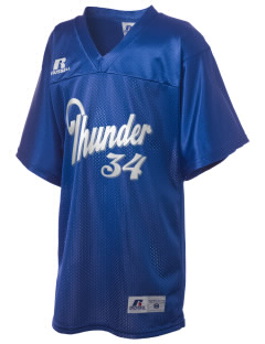 Twin Rivers Elementary School Thunder Russell Kid's Replica Football Jersey