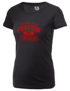 Preston High School Trojans  Russell Women's Campus T-Shirt