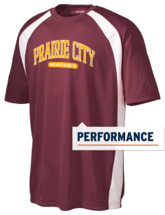 Prairie City Elementary School Mustangs Men's Dry Zone Colorblock T-Shirt