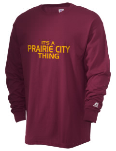 Prairie City Elementary School Mustangs  Russell Men's Long Sleeve T-Shirt