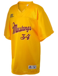 Prairie City Elementary School Mustangs Russell Kid's Replica Football Jersey