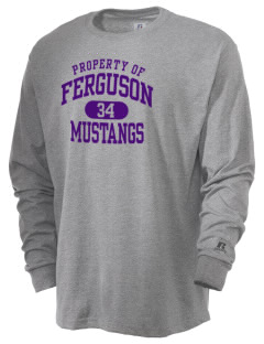 Ferguson Elementary School Mustangs  Russell Men's Long Sleeve T-Shirt