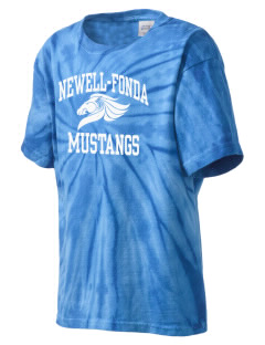 Newell-Fonda Middle School Mustangs Kid's Tie-Dye T-Shirt