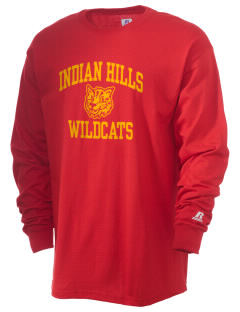 Indian Hills Junior High School Wildcats  Russell Men's Long Sleeve T-Shirt