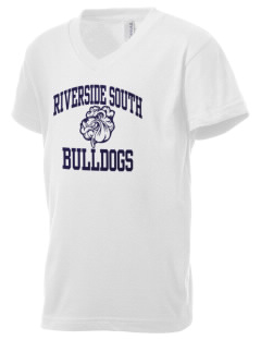 Riverside South Elementary School Bulldogs Kid's V-Neck Jersey T-Shirt