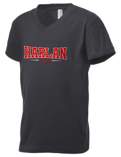 Harlan Community High School Cyclones Kid's V-Neck Jersey T-Shirt