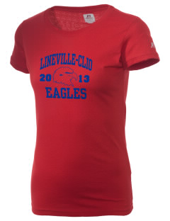Lineville-Clio Community School Eagles  Russell Women's Campus T-Shirt
