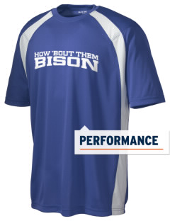 Thompson Middle Elementary School Bison Men's Dry Zone Colorblock T-Shirt