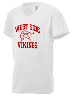 West Side School Vikings Kid's V-Neck Jersey T-Shirt