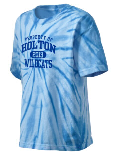 Holton High School Wildcats Kid's Tie-Dye T-Shirt