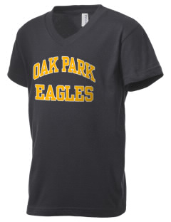 Oak Park Elementary School Eagles Kid's V-Neck Jersey T-Shirt