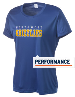 Wichita Northwest High School Grizzlies Women's Competitor Performance T-Shirt