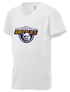 Wichita Northwest High School Grizzlies Kid's V-Neck Jersey T-Shirt