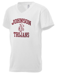 Johnson Elementary School Trojans Kid's V-Neck Jersey T-Shirt