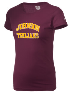 Johnson Elementary School Trojans  Russell Women's Campus T-Shirt