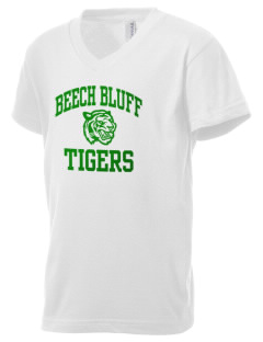 Beech Bluff Elementary School Tigers Kid's V-Neck Jersey T-Shirt
