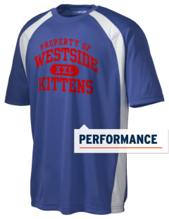 Westside Elementary School Kittens Men's Dry Zone Colorblock T-Shirt