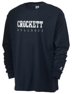 Crockett Elementary School Bulldogs  Russell Men's Long Sleeve T-Shirt