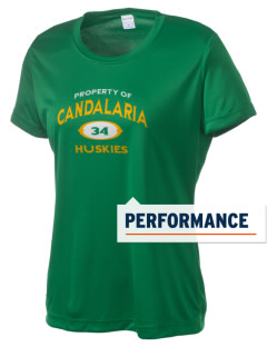 Candalaria Elementary School Huskies Women's Competitor Performance T-Shirt