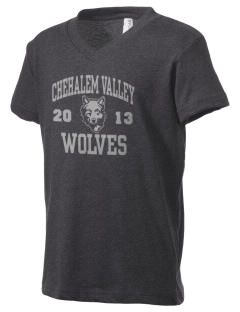 Chehalem Valley Middle School Wolves Kid's V-Neck Jersey T-Shirt