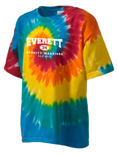 Everett Senior High School Warriors Kid's Tie-Dye T-Shirt