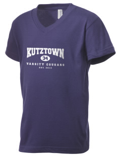 Kutztown Area High School Cougars Kid's V-Neck Jersey T-Shirt