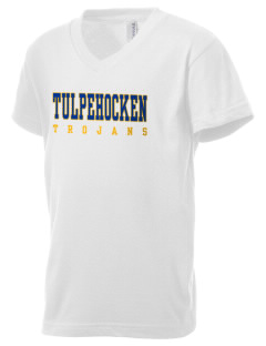 Tulpehocken High School Trojans Kid's V-Neck Jersey T-Shirt