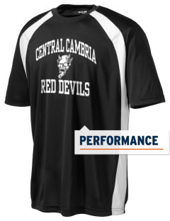 Central Cambria High School Red Devils Men's Dry Zone Colorblock T-Shirt