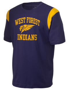 West Forest High School Indians Holloway Men's Rush T-Shirt