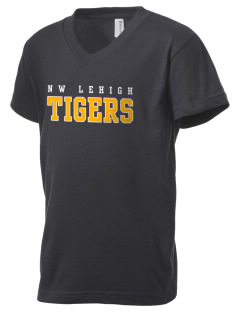 Northwestern Lehigh High School Tigers Kid's V-Neck Jersey T-Shirt