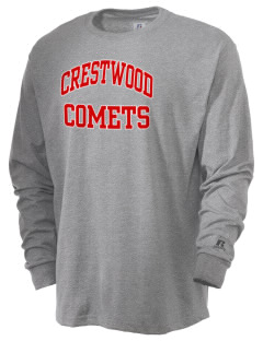 Crestwood Junior High School Comets  Russell Men's Long Sleeve T-Shirt