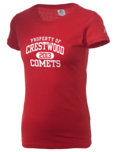 Crestwood Junior High School Comets  Russell Women's Campus T-Shirt