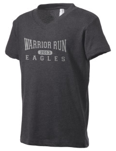Warrior Run Middle School Eagles Kid's V-Neck Jersey T-Shirt