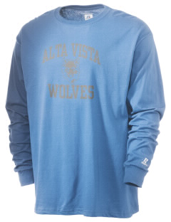 Alta Vista Elementary School Wolves  Russell Men's Long Sleeve T-Shirt