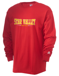 Star Valley High School Braves  Russell Men's Long Sleeve T-Shirt
