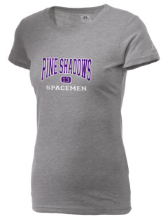 Pine Shadows Elementary School Spacemen  Russell Women's Campus T-Shirt