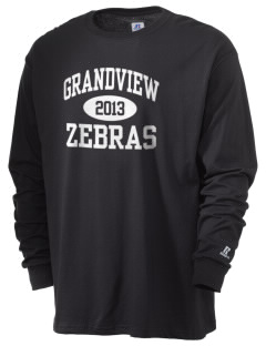 Grandview Elementary School Zebras  Russell Men's Long Sleeve T-Shirt