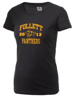 Follett School Panthers  Russell Women's Campus T-Shirt
