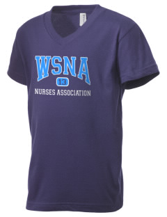 Washington State Nurses Association Kid's V-Neck Jersey T-Shirt