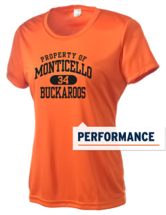 Monticello High School Buckaroos Women's Competitor Performance T-Shirt