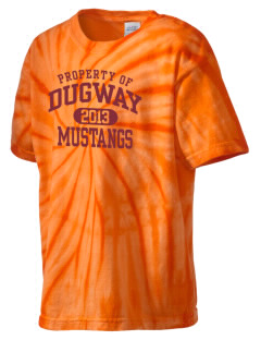 Dugway High School Mustangs Kid's Tie-Dye T-Shirt