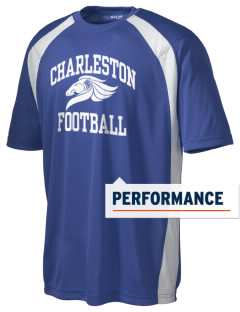Charleston Elementary School Mustangs Men's Dry Zone Colorblock T-Shirt